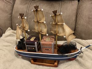 "Vintage Hand Crafted Wooden Ghirardelli Sailboat - ""Mazeppa 1852"" for Sale in Tempe, AZ"