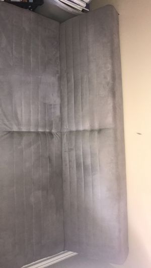 Comfortable suede futon/couch for Sale in St. Louis, MO