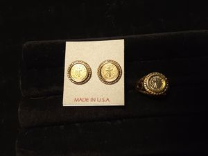 Ring & Earrings. Jesus loves me this I know engraved 25$ ea or 45$ set for Sale in Ladson, SC