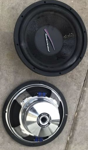 """audiobahn subs. 12""""s Work great. No box for Sale in Chandler, AZ"""