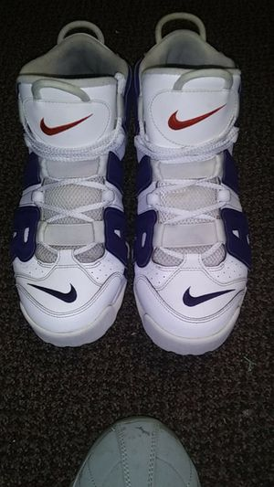 Blue and white uptempo Nike Air Scottie Pippen for Sale in Elmira, NY