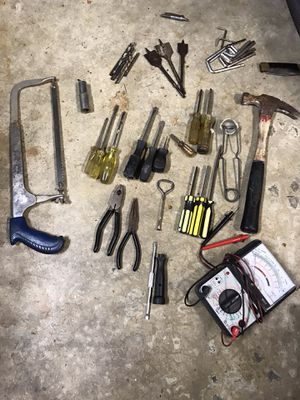 Tools, hammer hacksaw and multimeter screwdrivers etc. for Sale in Tacoma, WA