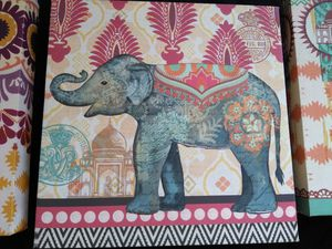 Elephant pictures (3- 1' square) canvas paintings for Sale in Beaumont, TX