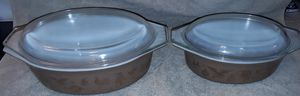Vintage 1962 Pyrex Cinderella Early American Americana Oval Casserole ovenware set of 2 for Sale in Gulfport, FL