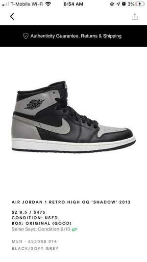 Air Jordan 1 Retro High Og shadow 2013 for Sale in Marietta, GA