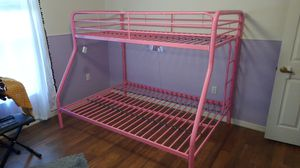 Girls Pink metal frame twin and full size bunk beds for Sale in PT CHARLOTTE, FL