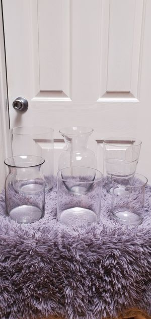 Glass Vases Jars Candy Table Wedding Birthday 15nera $7.00 Each for Sale in Gardena, CA