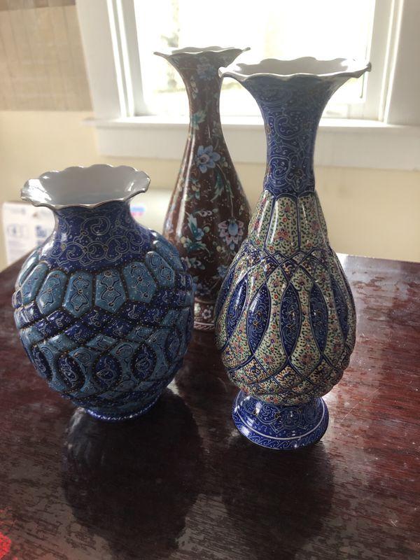 Hand made brass vases