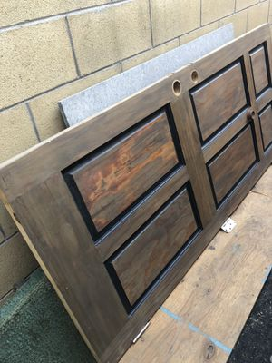 Solid wood front entry door with new hinges and threshold for Sale in Anaheim, CA