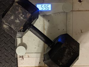 60lb single dumbbell for Sale in Frederick, MD
