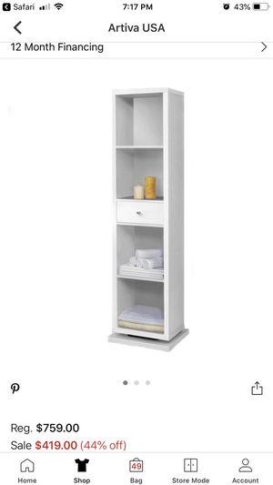 Artiva USA white mirror cabinet/bookcase for Sale in New York, NY