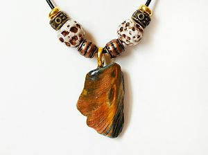 Shell Pendant Necklace With Handmade Clay Beads for Sale in Ephrata, PA
