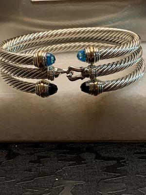 ✔️David Yurman Bundle of 3 cable bracelets for Sale in Weehawken, NJ