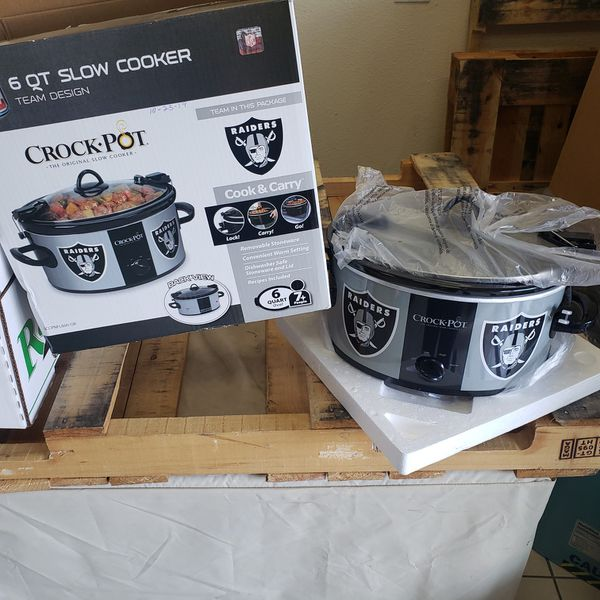 Crock Pot 6 QT Slow Cooker with Raiders Design