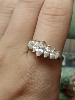 7 stone CZ LIND STERLING ring for Sale in Akron, OH