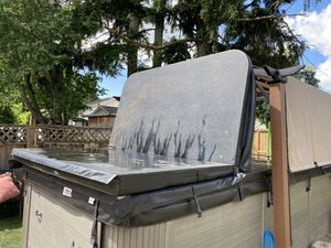 Swim spa jacuzzi hot tub cover black for Sale in Sumner, WA