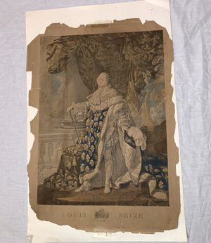 Antique King Louis Seize Royalty Colored Lithograph for Sale in Dallas, TX