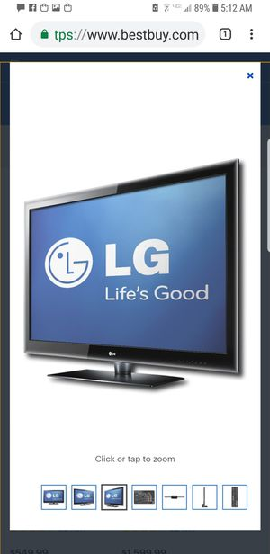 Lg 47le5400 plasma with net cast (its a slim smart tv) for Sale in Stow, MA