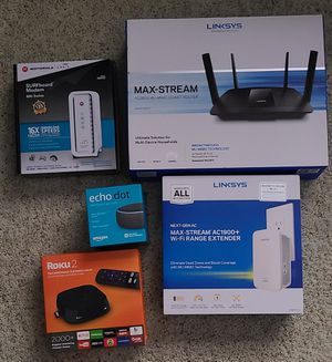 Used cable modem and wifi AC setup plus Roku 2 for Sale in Bolivar, OH
