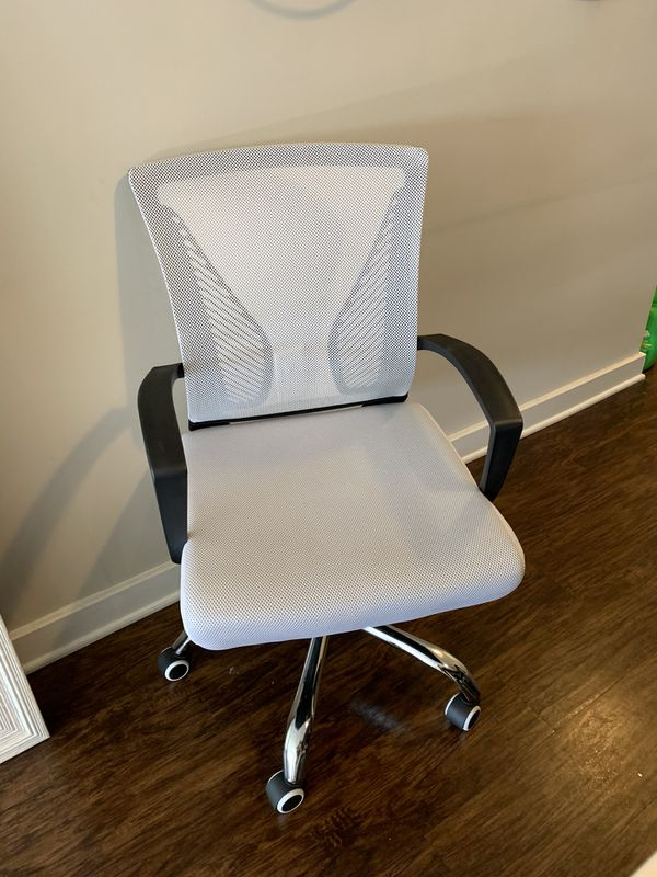 White and black desk chair
