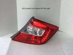 2012 Honda Civic 4doors Driver and Passenger Side Tail Lights for Sale in Jurupa Valley, CA
