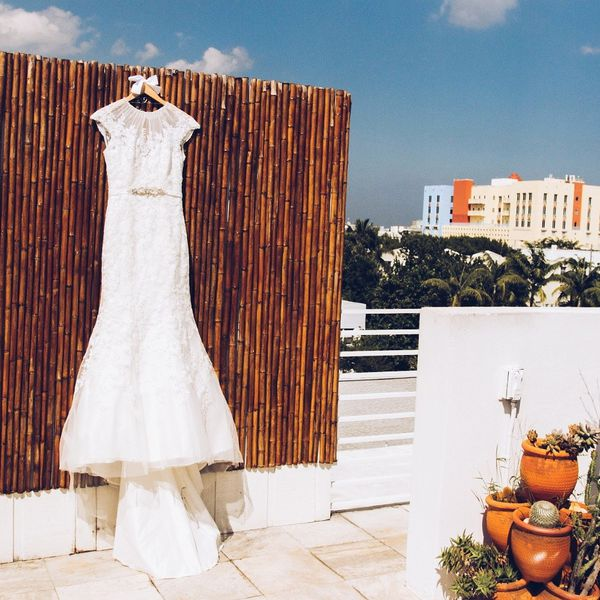 Gorgeous designer wedding dress