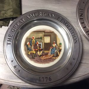 The Great American Revolution 1776 Betsy Ross and the Flag Pewter Plate for Sale in Jackson Township, NJ