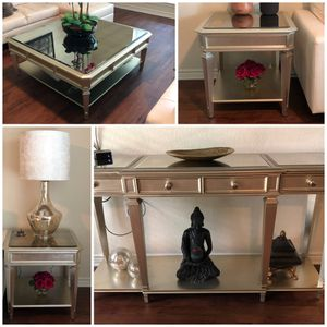 ZGallerie Empire Collection (End tables (2), Coffee & Console tables for Sale in Round Rock, TX