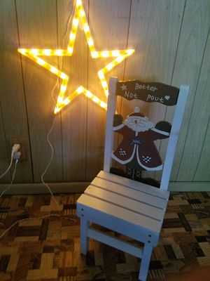 Christmas chair and star for Sale in Chicago, IL