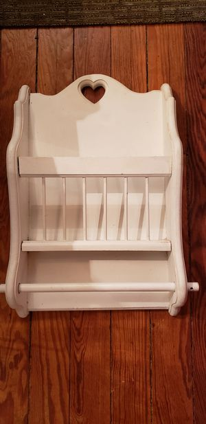 Wood wall mount magazine rack 19x13x4 for Sale in St. Louis, MO
