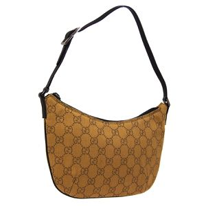 Pre-Owned GUCCI GG Logos Hand Bag Brown Canvas Leather Vintage Authentic for Sale in Henderson, NV