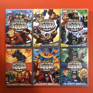 Superhero squad & Teen titan DVD set of 12 for Sale in Savage, MD