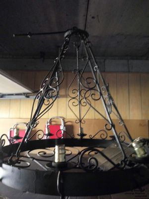 Antique Wrought Iron Chandlier for Sale in Lawton, OK