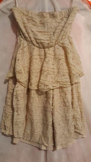 Beige Strapless Lace Dress for Sale in Chula Vista, CA