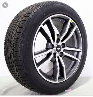 2017 mustang oem stock 18 inches wheels with Pirelli tires for Sale in Los Angeles, CA