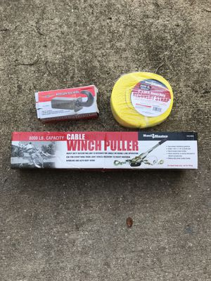 Off road parts for sale winch, strap and hook for Sale in Orlando, FL