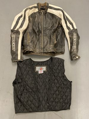 Joe Rocket SIZE LARGE Leather Motorcycle Jacket Riding Gear for Sale in Pasadena, CA