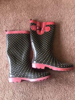 Polka Dot Rain Boots size 8 for Sale in Mead, WA