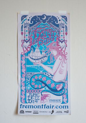 Seattle - Fremont Fair Poster for Sale in Tacoma, WA