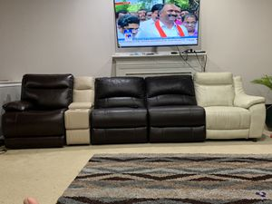 Brand new contemporary style leather recliner sofa set for Sale in Ashburn, VA