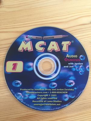 MCAT Audio Osmosis on CD (Examkrackers) Study Materials Prep Med School for Sale in Boston, MA