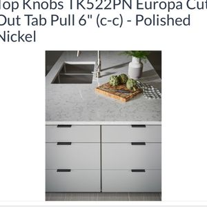 """Top Knobs Europa Cut Out Pull Tabs 6"""" for Sale in Bethel, CT"""