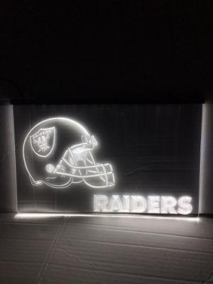 Oakland Raiders LED sign Raiders neon sign Raiders sign raiders jersey Raiders hat for Sale in La Habra, CA