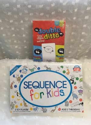 New Board Games - Sequence for Kids & Double Ditto for Sale in Seattle, WA