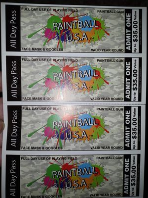 Paint ball tickets for Sale in New Haven, CT