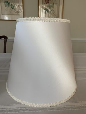 White Silk Lampshade for Sale in Rockville, MD