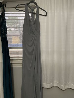 Grey party , braid-maid, wedding dress for Sale in La Porte, TX