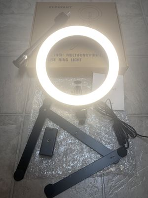 "10"" Selfie Ring Light with Tripod Stand & Cell Phone Holder, with 3 Light Modes. for Sale in El Cajon, CA"