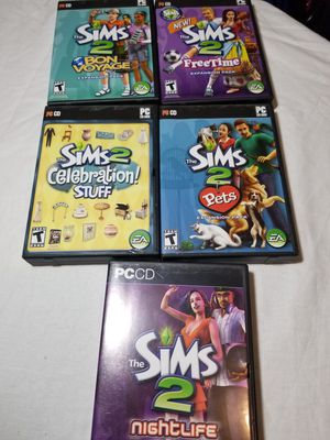 Sims 2 Deluxe PC CD Lot Of 5 With Expansion Packs| Pets, Freetime,Night Life ETC for Sale in Orange Park, FL