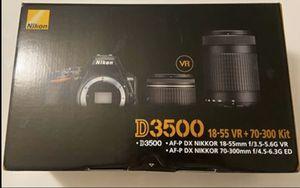 Nikon D3500 18-55 VR + 70-300 kit camera for Sale in Kissimmee, FL